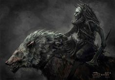 """Warg Rider"", in fine art, by Andrew Baker."