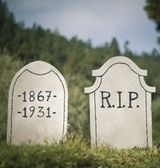If you've got some last minute Halloween decorating to do, don't limit yourself to some cotton spider webs and plastic spiders. These fake tombstones are shockingly easy to create.