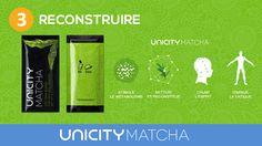 LE UNICITY MATCHA  POUR UN SOUTIEN ÉNERGIÉTIQUE  SIMPLE, EFFICACE, PROPRE ET DURABLE.  Pour vous procurer UNICITY MATCHA, vous pouvez soit le commander directement en ligne et faire livrer directement à votre porte : https://shop.unicity.com/core-products/?ref=96964802