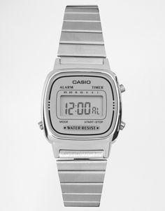 Image 1 ofCasio Silver Mini Digital Watch LA670WEA-7EF