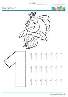 fichas de numeros de verano Numbers Preschool, Learning Numbers, Writing Numbers, Preschool Math, Alphabet Tracing Worksheets, Kindergarten Math Worksheets, Gross Motor Activities, Preschool Activities, Math Bingo