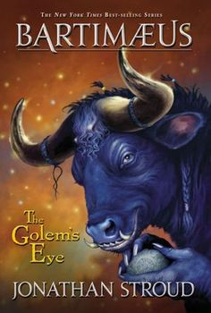 The Golem's Eye (Thr Bartimaeus Trilogy, Book 2) by Jonathan Stroud. ok, you gotta get past the weird covers. but I promise you, an amazing story awaits you inside!