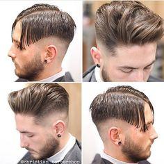 "9,695 Me gusta, 65 comentarios - Hair Man Styles (@hairmanstyles) en Instagram: ""Steps Haircut of four pictures ✂️#Haircut #Hairstyle #HairManStyles @christian_barbershop"""
