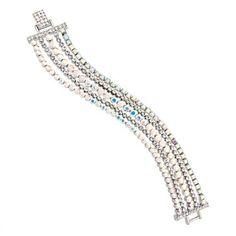Butler and Wilson 5 Row Crystal Bracelet Daisy London, Butler & Wilson, Lola Rose, Jewelry Gifts, Jewellery, Red Carpet Ready, Crystal Bracelets, Oscars, The Row