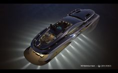 Xhibitionist luxury super-yacht by Gray Design, designed with the flowing lines of an Art Nouveau masterpiece and automotive styling. Images © Gray Design The… Yacht Design, Boat Design, 3d Design, Super Yachts, Most Expensive Yacht, Vacation Meme, Spiegel Online, Power Boats, Speed Boats