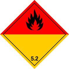 Señal Peligro de clase 5.2 Peóxido orgánicos