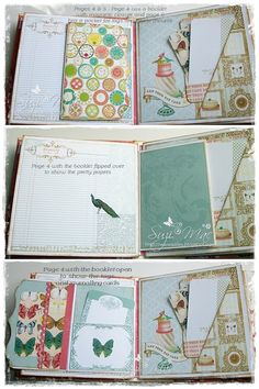 Webster's pages mini album using Postcards from Paris II More pics n info at… Baby Journal, Photo Journal, Memory Album, Memory Books, Mini Scrapbook Albums, Baby Scrapbook, Websters Pages, Mini Album Tutorial, Mini Photo