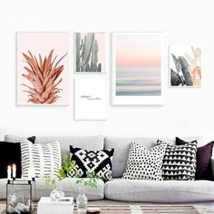 Give your walls new life! Our modern art prints frames allow you to create a uni… Wall Art Sets, Wall Art Decor, Room Decor, Canvas Wall Decor, Framed Art Prints, Wall Art Prints, Large Prints, Leaf Prints, Framed Wall Art