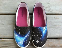 handmade galaxy canvas shoes
