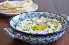 Baba Ghanouj.  A delicious dip with eggplant, lemon, garlic, tahini/mayo/greek yogurt, salt, olive oil, and parsley.  xoxo