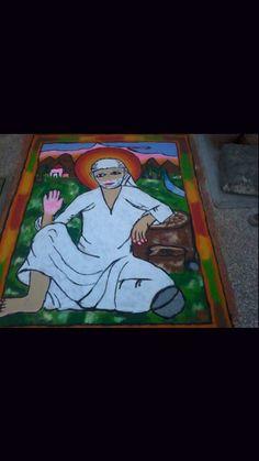 Sai Baba Rangoli