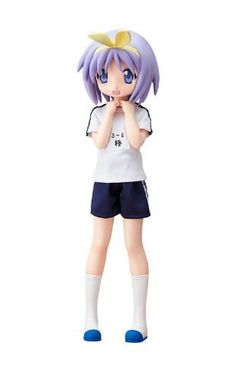"""Lucky Star Hiiragi Tsukasa Gym Uniform Ver. PVC Figure by FREEing. $186.77. Size : 44.4 x 25.81 x 19.41 cm. The carefree younger twin sister.  Joining FREEing's 1/4 scale characters from the popular series """"Lucky Star"""" is the third figure in the series - the younger of the Hiiragi twin sisters, Tsukasa Hiiragi, also in her gym uniform.  Tsukasa has been sculpted in a huge 1/4 scale that makes it seem as if she had just jumped out of the anime, and her gym uniform and sh..."""