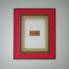 Moldura Antiga - Rosa & Dourado R$15