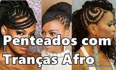 Resultado de imagem para penteados para cabelos trançados com fibra