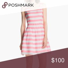 Neon pink Lilly Pulitzer dress Stripes are much more neon pink than first pic. Purchased this dress from Posh but never wear, it. I just reach for other Lilly dresses in my collection more. Perfect condition! So cute for spring. Lilly Pulitzer Dresses