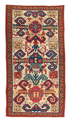 Lot 226. Proto Perepedil, Caucasus, 18th century. 8ft. 4in. x 4ft. 5in. Estimate: € 45.000 - 65.000