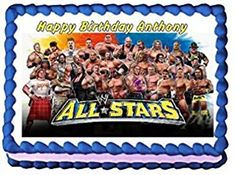 WWE Allstars Edible Frosting Sheet Cake Topper  14 Sheet *** You can find more details by visiting the image link.(This is an Amazon affiliate link and I receive a commission for the sales)