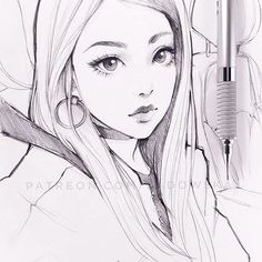 pencil warm up from photo. Anime Drawings Sketches, Pencil Art Drawings, Anime Sketch, Manga Drawing, Cute Drawings, Really Cool Drawings, Character Drawing, Art Tutorials, Art Reference