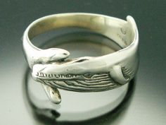 Blue Whale Ring Sterling Silver
