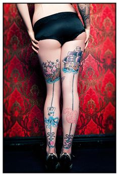 Amazing pirate tattoo.