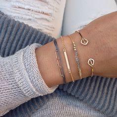 Amsterdam Bracelet - Grau – MAKAROjewelry