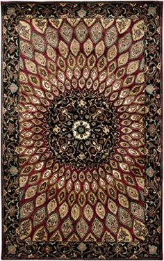 Rizzy Home SN2488 Shine Hand-Tufted Area Rug, 9-Feet by 12-Feet, Traditional, Burgundy/Black ** To view further for this item, visit the image link.