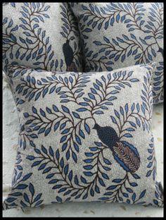 Peacock and Vines #Batik Pillows - Textiil - Modern global home decor + gifts