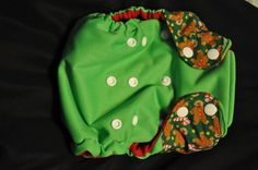 Merry Christmas Gingerbread One Size Pocket by PeppersPottyPants, $20.00