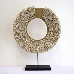 AKAR DE NISSIM's decorative tribal shell necklace. #Home #Decor #Accents