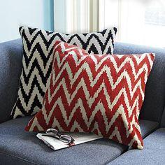 Chevron Crewel Pillow Cover on westelm.com