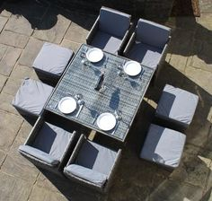 deluxe 9 cube set in grey modern furniture deals