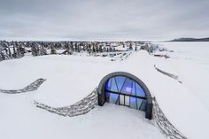 The famous Icehotel, which they build every year in Jukkasjärvi, Sweden, will get built for the 27th year in a row this year, since it melts into nothing each year. But this year another Icehotel was also built, and this one is built to last. The so-called Icehotel 365 is designed to remain standing and open all year, and not just during the coldest months. Icehotel 365 has a total area of 22,600 sq ft…