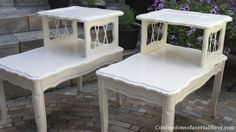 Painted Garage Sale Tables