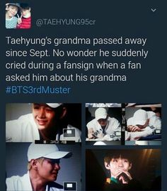 I understand that we feel sorry for V but let's not crowd over him. I know when my grandfather died all I wanted to do was grieve for him in peace