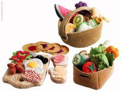 DUKTIG breakfast set, DUKTIG fruits basket, DUKTIG vegetables