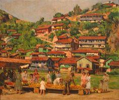 Morro da Penha, Santos (1944). Dario Villares Barbosa (1880-1952). óleo sobre tela (57 X 67). Pinacoteca do Estado de São Paulo, Brasil.