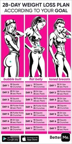 Summer Body Workouts, Gym Workout Tips, Fitness Workout For Women, At Home Workout Plan, Fitness Workouts, Workout Challenge, Easy Workouts, Workout Videos, At Home Workouts