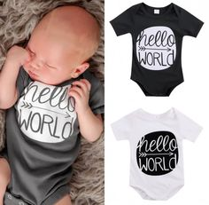 Baby Boy White Bodysuit Toddler Summer Outfits Clothes Newborn Kids Letter Jumpsuit Baby Girl Playsuit #>=#>=#>=#>=#> Click on the pin to check out discount price, color, size, shipping, etc. Save and like it!