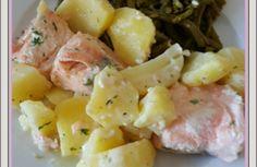 Saumon et pommes et terre à la crème  (Cookeo )