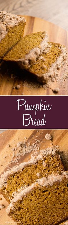 Home Made Doggy Foodstuff FAQ's And Ideas An Amazing Pumpkin Bread Recipe Great, Moist, Dense And Delicious, Topped With A Cinnamon Streusel. Everybody Loves This Bread Recipes With Yeast, Bread Recipes, New Recipes, Favorite Recipes, Fall Recipes, Muffin Recipes, Amazing Recipes, Breakfast Recipes, Dessert Recipes