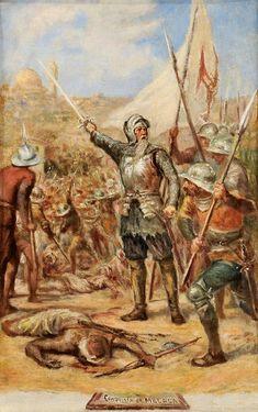 Admiral Afonso de Albuquerque - Portuguese Conquest of Malaca / Melaka - 1511 Conquistador, Spain And Portugal, 16th Century, Portuguese, Art Boards, Museum, Age, Artwork, Painting