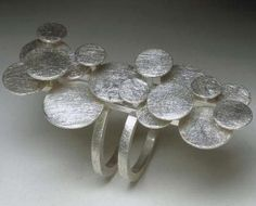 "Ring | Melissa Borrell. ""Bubble"".  Silver"