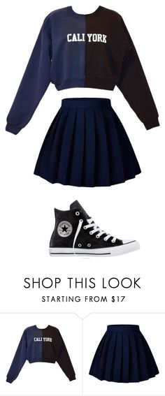 """Untitled #81"" by night-soul ❤ liked on Polyvore featuring Cynthia Rowley and Converse"