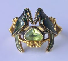 'The Betrothal -To Have & To Hold' Art Nouveau Ring