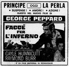 """""""Facce per l'inferno"""" (P.J., 1968) di John Guillermin, con George Peppard e Raymond Burr. Italian release: March 7, 1968 #MoviePosters"""