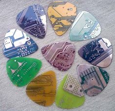 Circuit board guitar picks - sick!