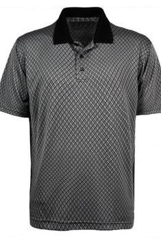 6825d0180d70 All USA Clothing Brand, Men's Diamond Jacquard Polo Shirt. 100% Made in the