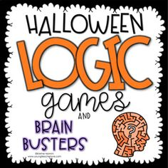 Halloween Logic Games and Brain Busters (Critical Thinking Activities)I created these logic and brain games as a fun activity to give to your students during Halloween (or anytime for enrichment.) The games are Halloween-themed and ask your Halloween Math, Halloween Activities, Halloween Themes, Halloween Season, Math Logic Games, Logic Puzzles, 5th Grade Classroom, Middle School Classroom, Brain Busters