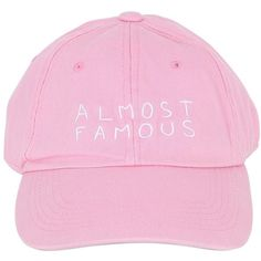Nasaseasons Women Almost Famous Embroidered Baseball Hat ($63) ❤ liked on Polyvore featuring accessories, hats, accessories - hats, pink, embroidered baseball caps, baseball caps, pink baseball hat, pink ball cap and embroidered ball caps