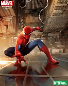 "redskullspage: "" The Amazing Spider-Man artwork created by Stefano Caselli exclusively for Kotobukiya "" Marvel Art, Marvel Dc Comics, Marvel Heroes, Comic Book Characters, Marvel Characters, Comic Character, Spiderman Art, Amazing Spiderman, Spectacular Spider Man"